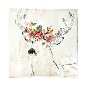 Deer Painting Print Canvas Baby Nursery Girl Buck